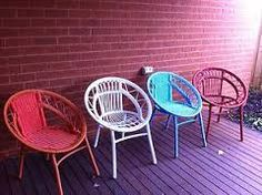 Coloured wicker seating would look gorgeous on a patio or in a sunroom