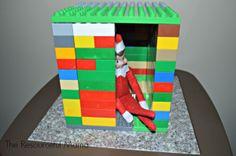 Elf on the Shelf built a Lego house for himself