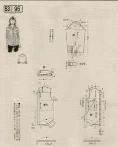 Japanese book and handicrafts - Lady Boutique Blouse Patterns, Clothing Patterns, Japanese Sewing Patterns, Japanese Books, Book And Magazine, Pattern Drafting, Oversized Shirt, Ladies Boutique, Handicraft