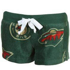 Minnesota Wild Ladies Plush Shorts - Green