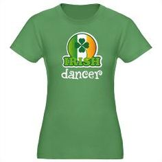 #CPirishluck  Cute Irish Dancer lucky green St Patrick's Day tshirt.