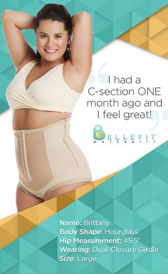 Brittany is 29 days postpartum. She's wearing a Bellefit Dual-Closure Girdle and she LOVES the support.