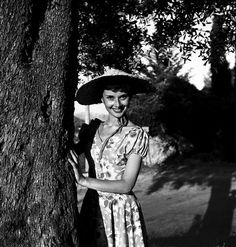Audrey Hepburn photographed by Edward Quinn at the medieval village of Eze, near Monaco, 1951