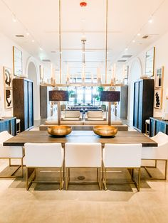 Modern Contemporary Living Room, Living Room Modern, Rh Home, Restoration Hardware Living Room, Glass Dining Table, Fine Dining, Small Room Decor, Dining Room Inspiration, New Living Room