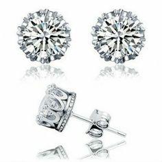 925 Sterling Silver Small Love Stud Earrings for Women