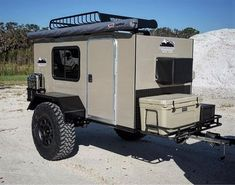 Stunning Diy Camper Trailer Design - Yellowraises <br> Camping is a good pastime activity that families should partake in at least once every season year. Taking your family out for camping has got [. Cargo Trailer Camper, Diy Camper Trailer Designs, Small Camper Trailers, Teardrop Camper Trailer, Off Road Trailer, Small Campers, Travel Trailers, Camp Trailers, Trailer Build