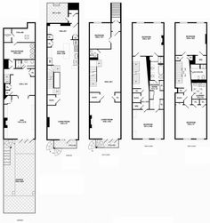 Bathroom Floor Plans Long Narrow townhouse floor plan elwood melbourne | apartment floorplans