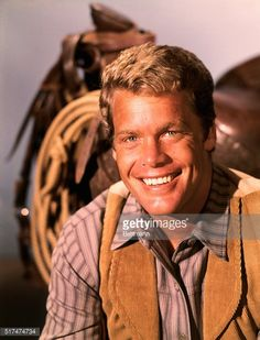 Fotografia de notícias : Close-up of Doug McClure, starring in the TV show...