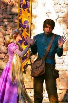 Rapunzel and Flynn Rider