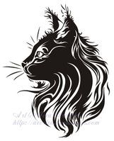 Sitting Cat Tribal Tattoo II by ~Avestra on deviantART