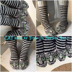 Cat Socks by Titta J's Fantasy Socks