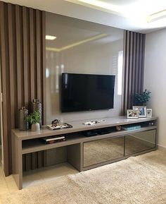 29 Ideas Home Sala Pequena Tv Cabinet Design, Tv Wall Design, Deco Cool, Tv Unit Furniture, Modern Tv Wall Units, Living Room Tv Unit Designs, Apartment Interior, Home Interior Design, Home And Living
