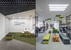 Magestore Offices by D+Studio, Hanoi – Vietnam Modern Office Design, Office Interior Design, Office Interiors, Interior Design Inspiration, Open Office, Cool Office, Visual Merchandising, Sala Vip, Office Entrance