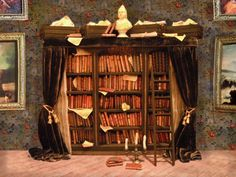 Miniature Library of Forgotten Books by LDelaney on Etsy, $975.00