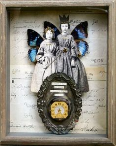 An-art-collage-by-Stephanie-Rubiano-using-antique-elements-and-symbolic-media-to-create-vintage-fairies