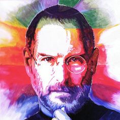 Think Different - A Portrait of Steve Jobs by Steve Gamba -  prints available on Saatchi Online