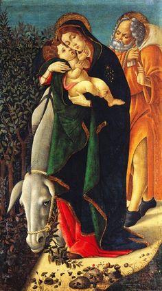 Botticelli Sandro - La fuga in Egitto - 1495-1500 - Musée Jacquemart-André, Paris