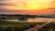 Ansung farmland in Ansung, Korea.