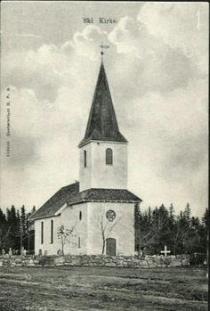 Akershus fylke Ski kommune  Ski Kirke. Utg H.P.B.