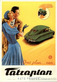 Car advertising poster from Vintage Advertisements, Vintage Ads, Vintage Posters, Retro Posters, Classic Motors, Classic Cars, Motos Vintage, Moto Car, Car Illustration