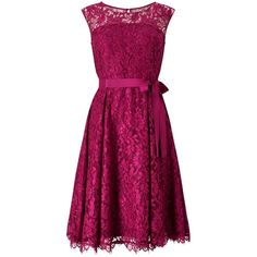 Precis Petite Jada Lace Prom Dress, Dark Pink ($185) ❤ liked on Polyvore featuring dresses, gowns, petite, prom gowns, purple maxi dress, petite maxi dresses, floral print dress and long-sleeve mini dress