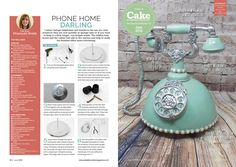 Vintage phone cake tutorial - cake by Dragons and Daffodils Cakes - CakesDecor