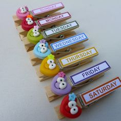 idea for clothespin...would be cute with Leah, luke and caleb's names on so that I can use them for my Awesome chart!