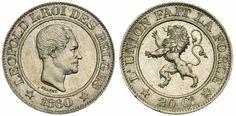 Leopold I. 20 Centimes, 1860.