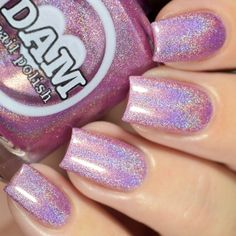 Name: Holo Kitty Color: Pink Type: Holographic # Recommended Coats: 2-3 Sizes Available: 15mL All my bases are 5 free - They do not contain camphor, toulene, formaldehyde, dibutyl phthalate (DBP), or