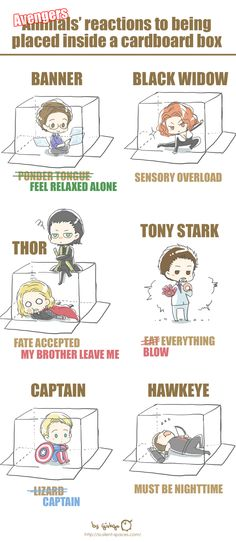 Avengers in a box. I have no idea why, but I like it.