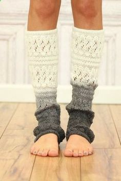 Cream Ombre Leg Warmer - I would wear in several different ombré styles