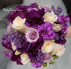 Purple Wedding Flowers - Wedding Flowers by Monday Morning Flowers