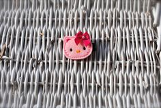 Adorable Felt Pink Kitty with a Hot pink Bow clip by MadiMosBows, $4.00