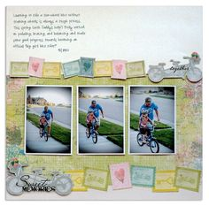 Nancy O'Dell Love Photo Album Accents Scrapbook Layout Idea from Creative Memories