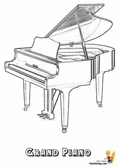 Grand Piano Coloring Page At YesColoring