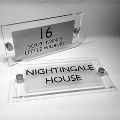 Modern Luxurious House Sign  #ideal #ChristmasGiftIdeas Now 30% off this BEAUTY www.de-signage.com/contemporary-acrylic-house-name-plaque.php