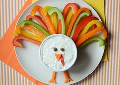 A healthy and cute snack for Thanksgiving