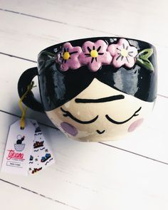 Discover recipes, home ideas, style inspiration and other ideas to try. Pottery Painting, Ceramic Painting, Cute Cups, Yarn Bowl, I Love Coffee, Ceramic Planters, Terracotta Pots, Clay Pots, Art Plastique