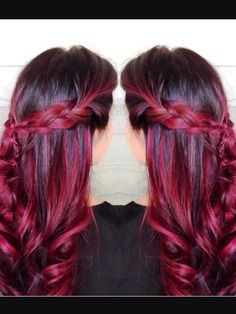 Attractive red ombre hair color ideas for young girls - hairstyles Ombre hair ideas: Ombre manifestations are an excellent indication […] Black Cherry Hair Color, Hair Color For Black Hair, Cool Hair Color, Color Black, Hair Colour, Red Ombre Hair, Blond Ombre, Hair Color 2017, Bright Hair Colors