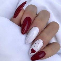 Valentine's Day Nail Designs, Nails Design, Heart Nail Designs, Valentine Nail Art, Valentine Nail Designs, Valentine Gifts, Nails For Valentines Day, Saint Valentine, Classic Nails