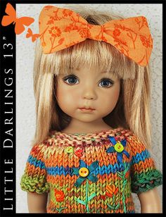"OOAK Colorful Outfit for Little Darlings Effner 13"" by Maggie & Kate Create"