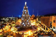 In Dortmund steht der größte Weihnachtsbaum der Welt - 45 Meter! Hier eine Seite, die dem Baum gewidmet ist: http://www.dortmunderweihnachtsmarkt.de/weihnachtsbaum/