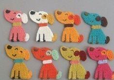 Crochet Motif 8 Crochet Cat Face Appliques 8 Colors by twpmango on Etsy - Chat Crochet, Crochet Mignon, Crochet Amigurumi, Crochet Toys, Crochet Baby, Mobiles En Crochet, Crochet Mobile, Crochet Crafts, Crochet Projects
