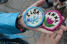 Anna and Elsa Frozen Princess Patches
