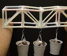 Truss Bridge 2 – Straws & Tape (A Challenge Project): 6 Steps Engineering Projects, Science Fair Projects, Engineering Challenges, Civil Engineering, School Projects, Straw Projects, Paper Bridge, Stem For Kids, Bridge Design
