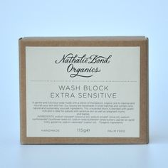 Nathalie Bond Organics   Jabón Artesanal Piel Sensible - Handmade Extra Sensitive Soap   Tienda Online de Cosmética Natural