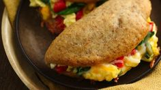 These egg and vegetable pockets are great served for dinner or for breakfast!