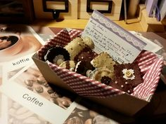 a box of felt cookies magnet ~ handmade gift with love to my dear friend