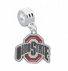 "Amazon.com: Ohio State Buckeyes Charm with Connector ""Classic & Original Style"" - Fits: Pandora, Troll, Biagi & More! Perfect For Custom Bra..."