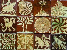 Andrew McGarva,Medieval style tiles, Carreaux style médiéval